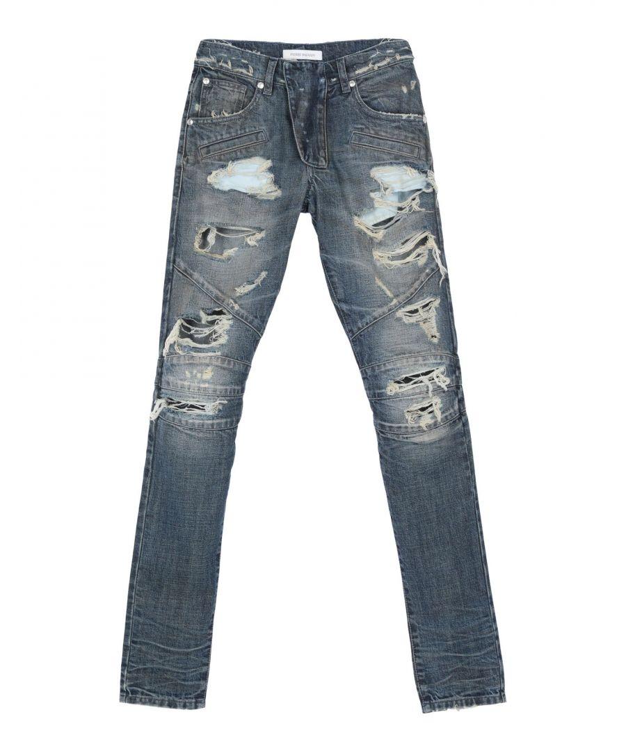 Image for Pierre Balmain Blue Cotton Worn Effect Jeans