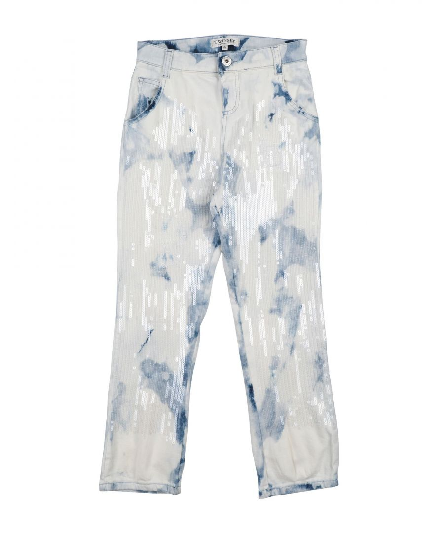 Image for DENIM Girl Twinset Blue Cotton