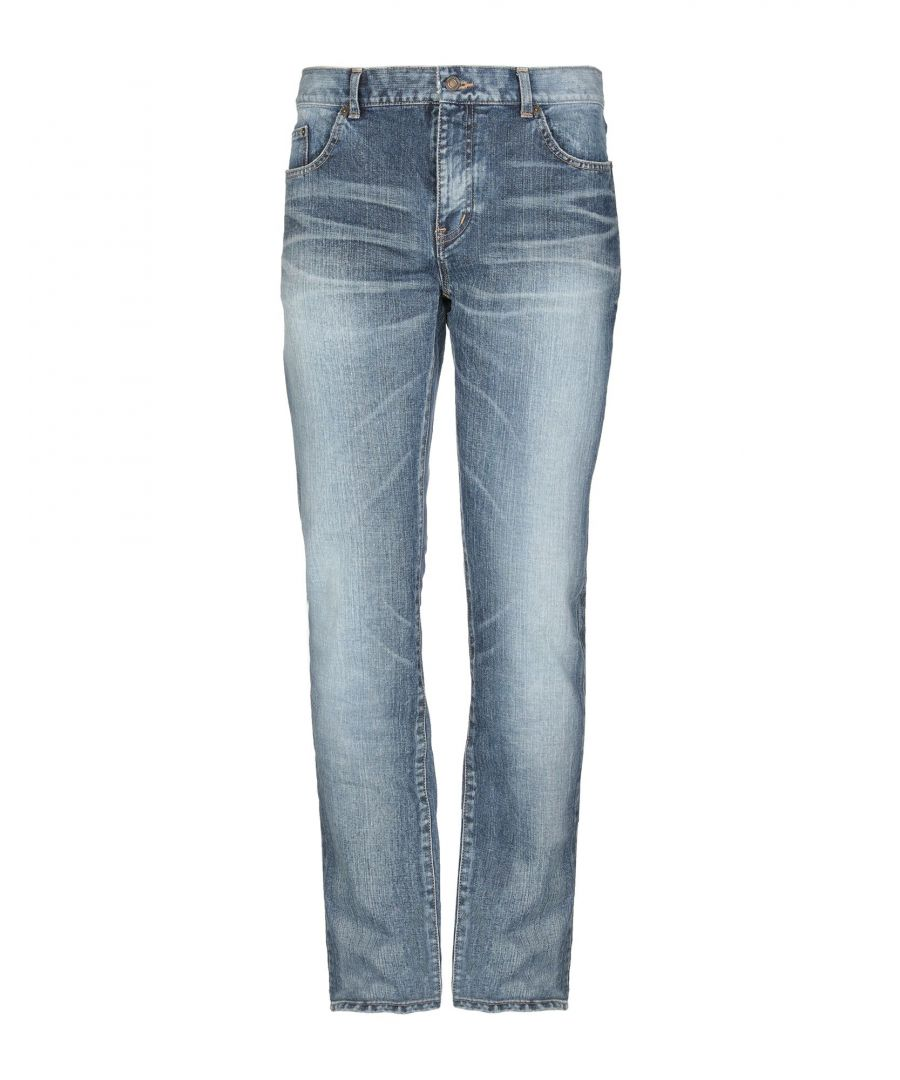 Image for Saint Laurent Blue Cotton Jeans