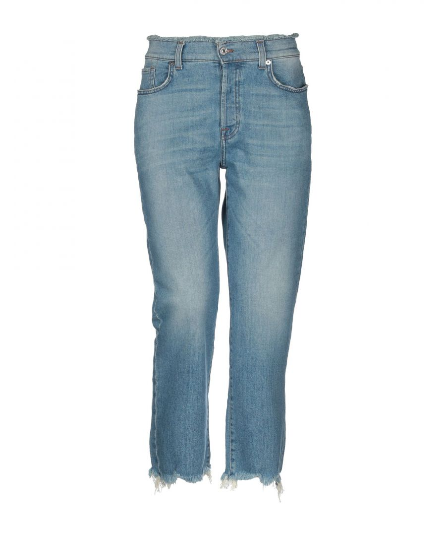 Image for 7 For All Mankind Blue Cotton High Waisted Jeans