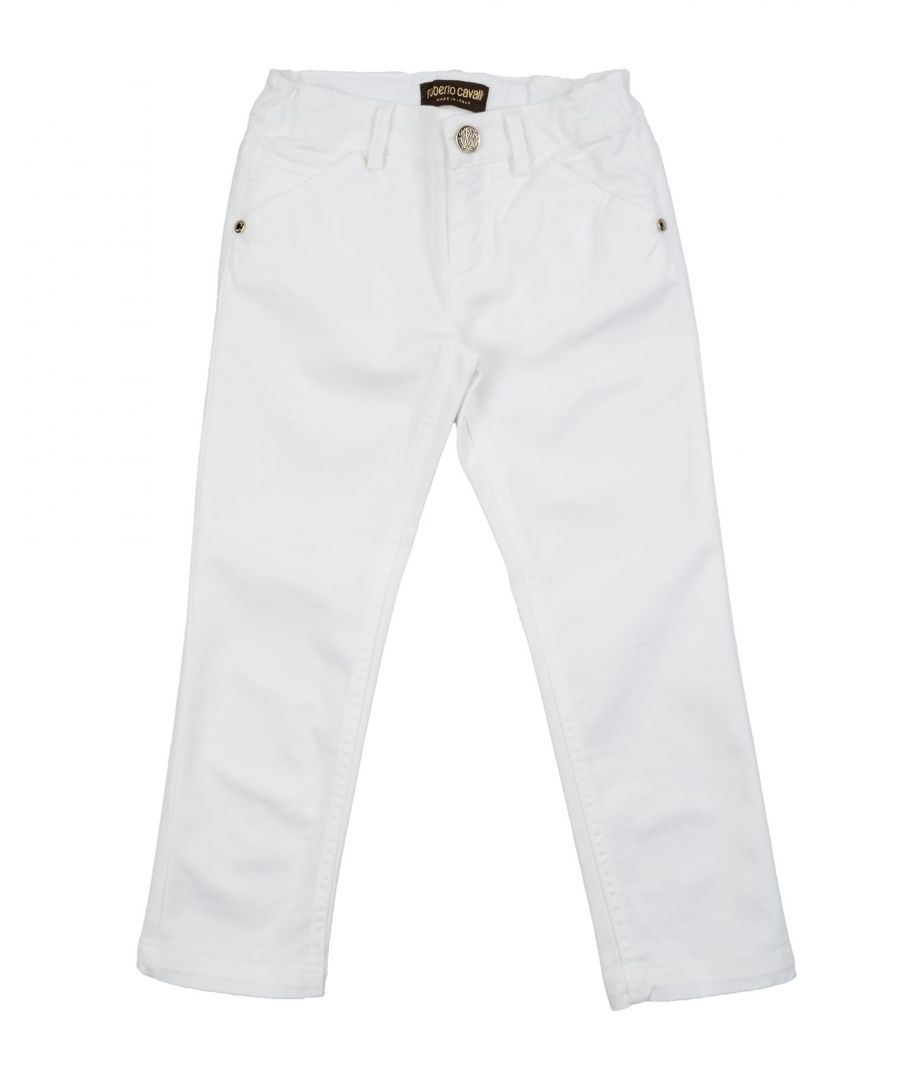 Image for TROUSERS Girl Roberto Cavalli Junior White Cotton
