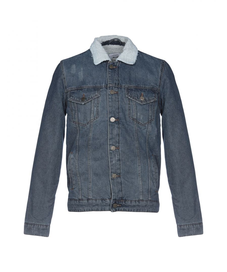Image for Only & Sons Blue Denim Jacket With Faux Fur Trim