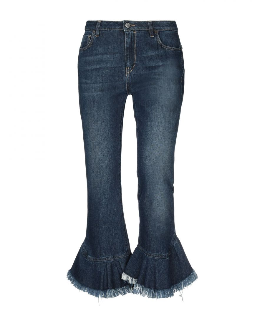 Image for Pinko Blue Cotton Flared Jeans