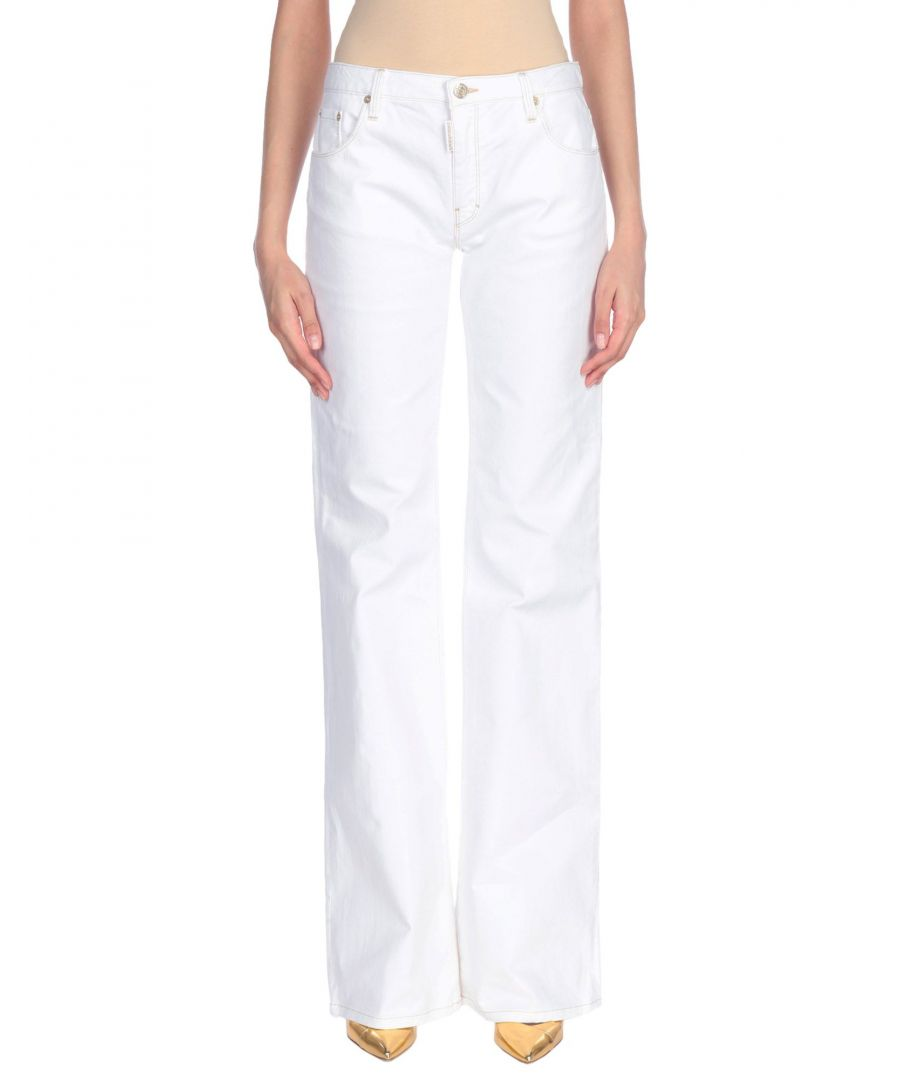 Image for Dsquared2 White Cotton Wide Leg Jeans
