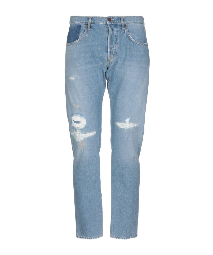 Image for (+) People Blue Cotton Straight Leg Jeans