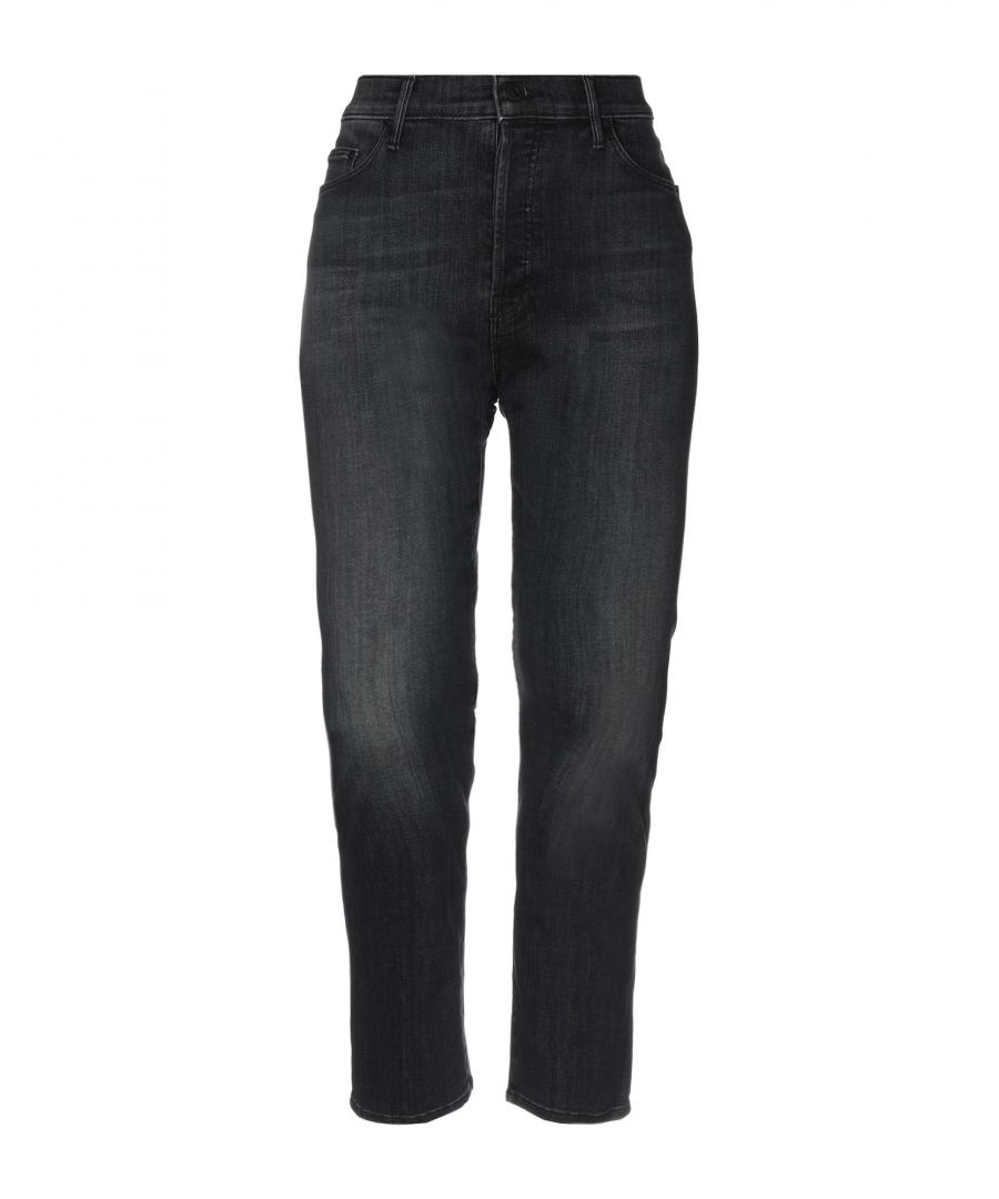 Image for Mother Steel Grey Cotton Jeans