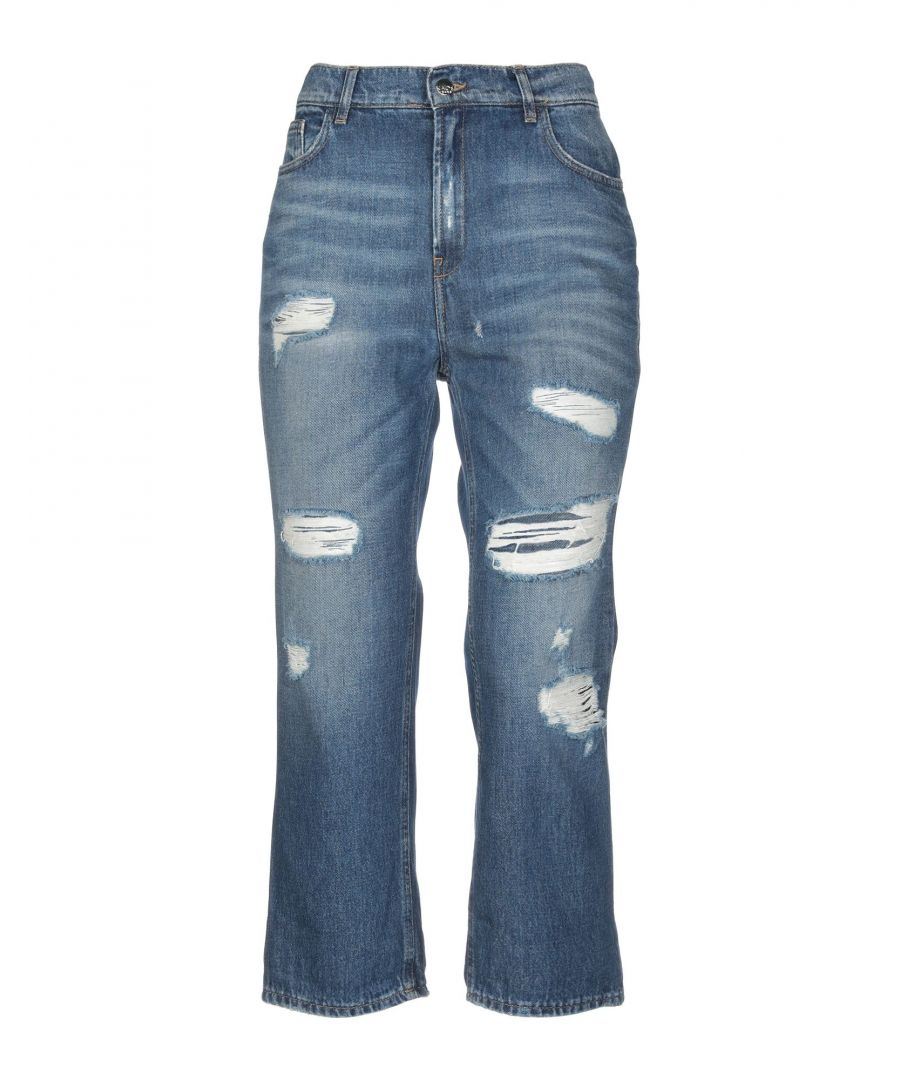 Image for Kaos Jeans Blue Cotton Distressed Jeans