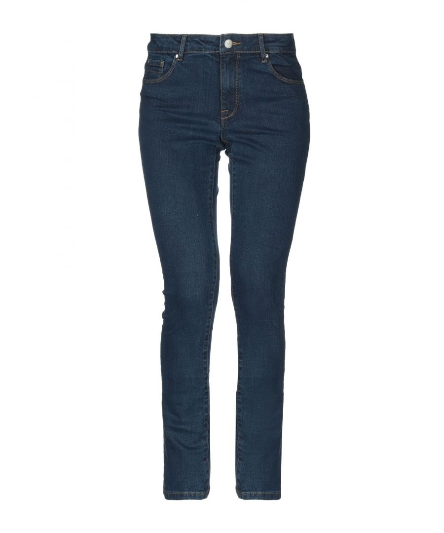 Image for Sh By Silvian Heach Blue Cotton Slim Fit Jeans