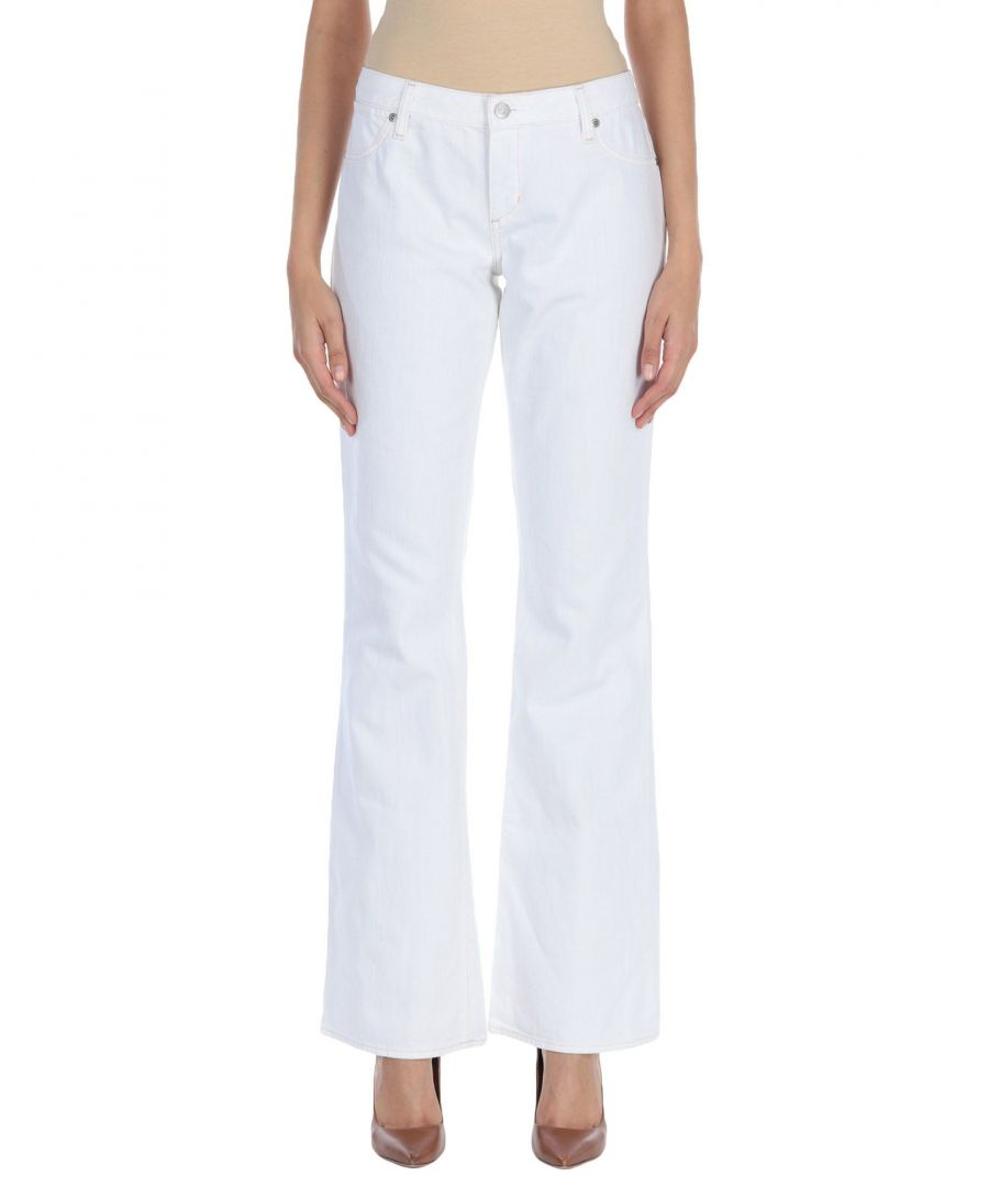 Image for Paperdenim&Cloth White Cotton Wide Leg Jeans