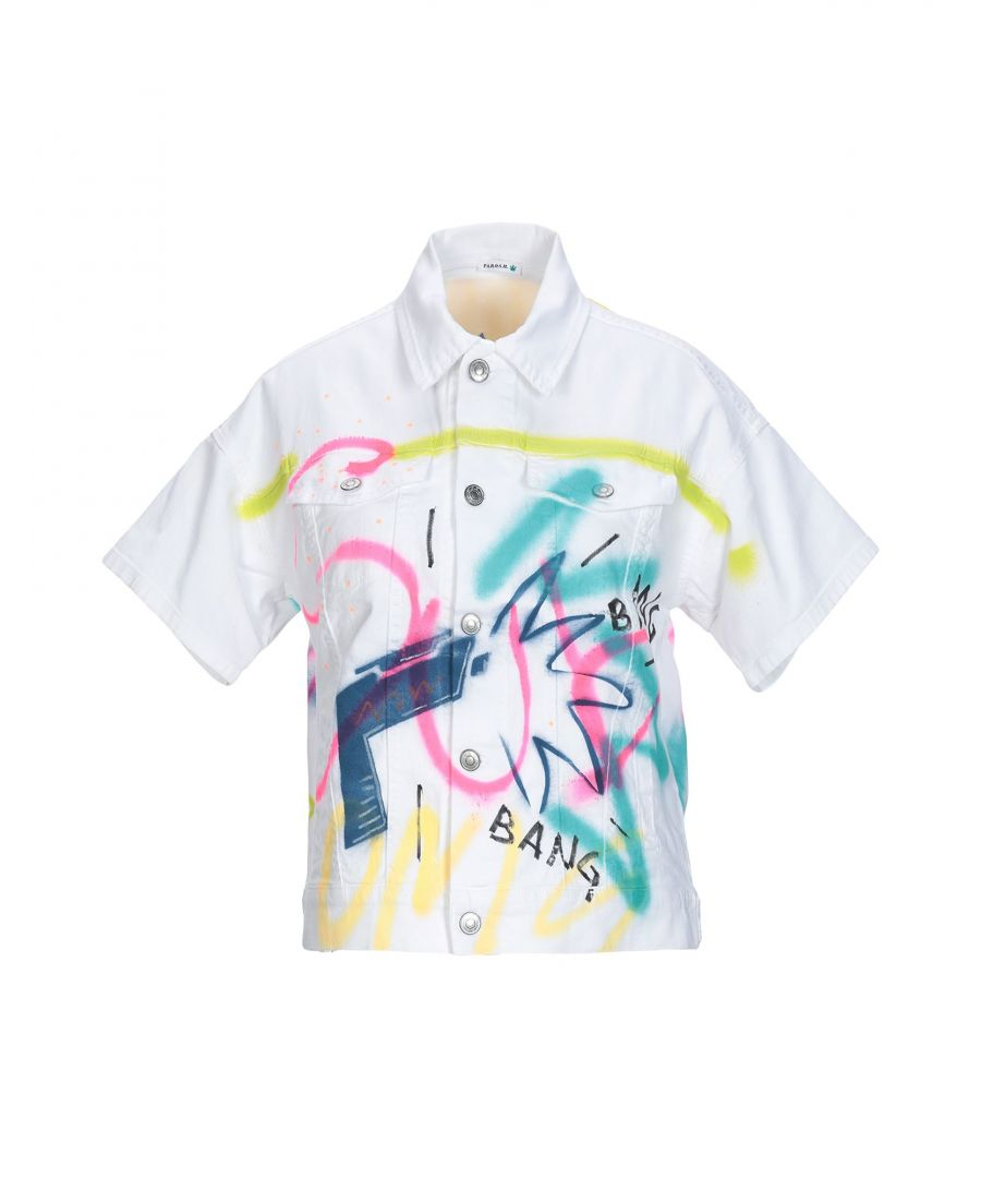 Image for P.A.R.O.S.H. White Cotton Short Sleeve Shirt