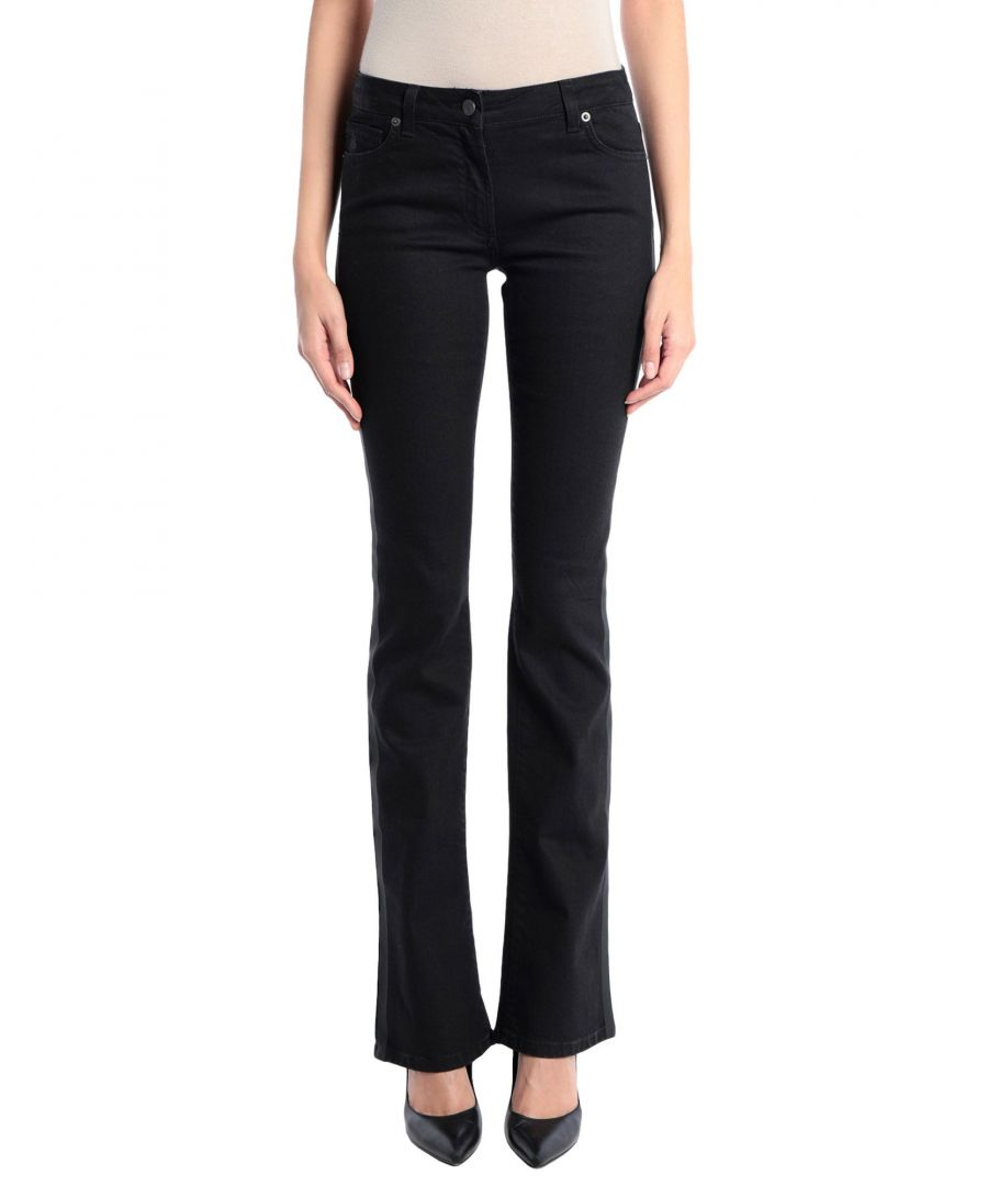 Image for Karl Lagerfeld Black Cotton Low Waisted Jeans