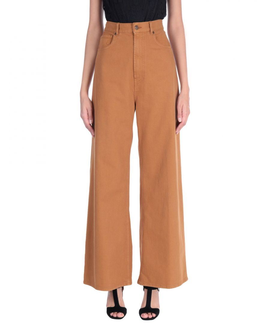 Image for Mauro Grifoni Brown Cotton Wide Leg Jeans