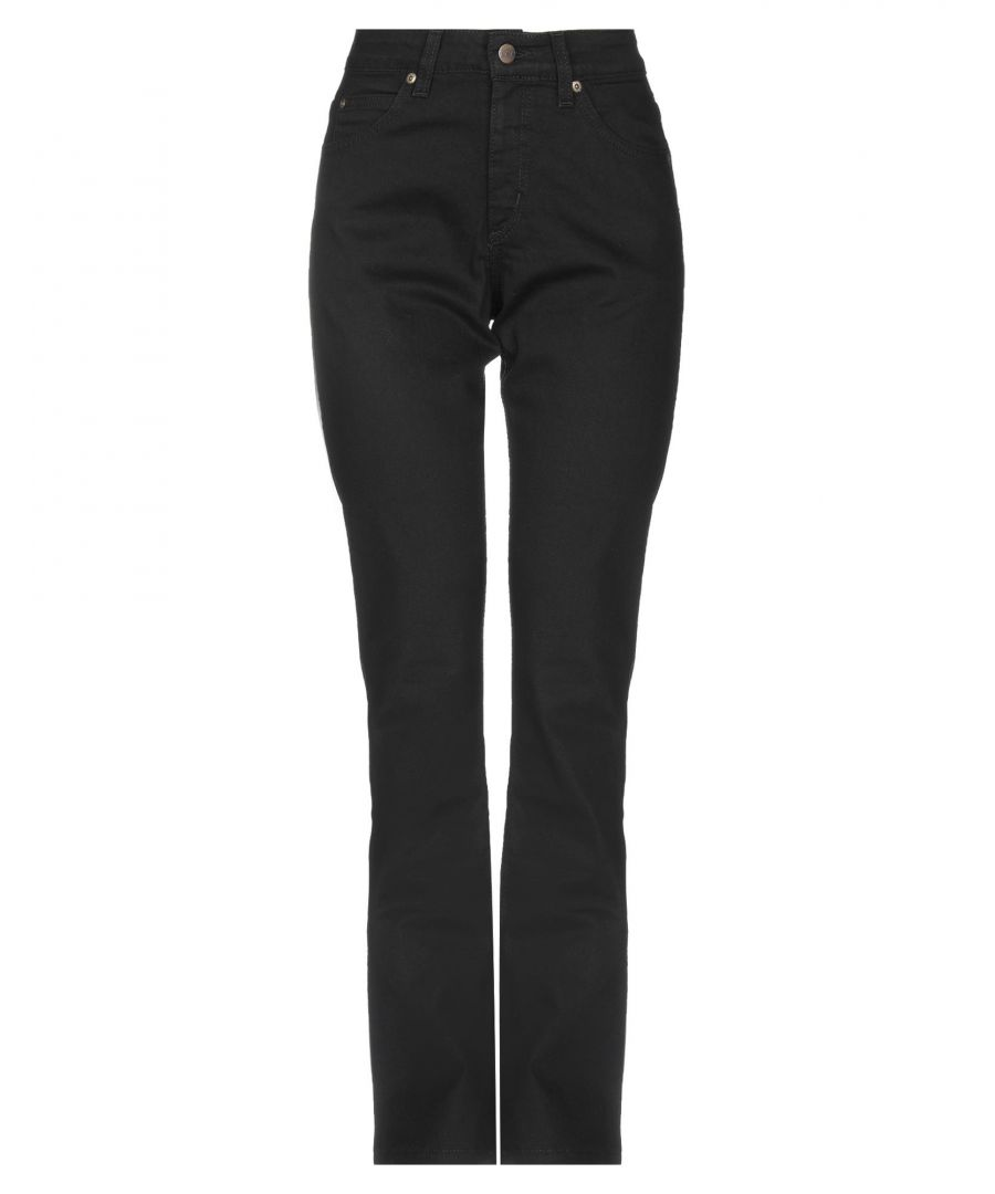 Image for Lee Black Cotton Straight Leg Jeans