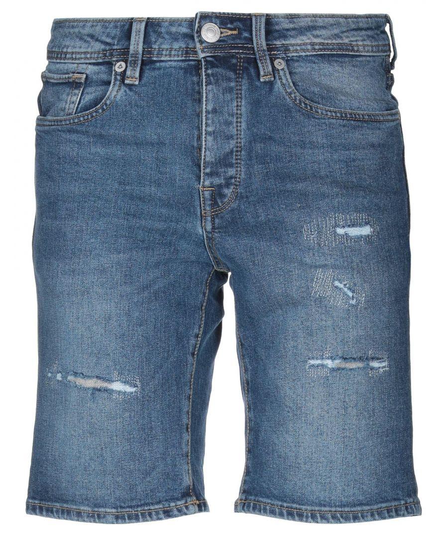 Image for Selected Homme Blue Medium Wash Denim Shorts