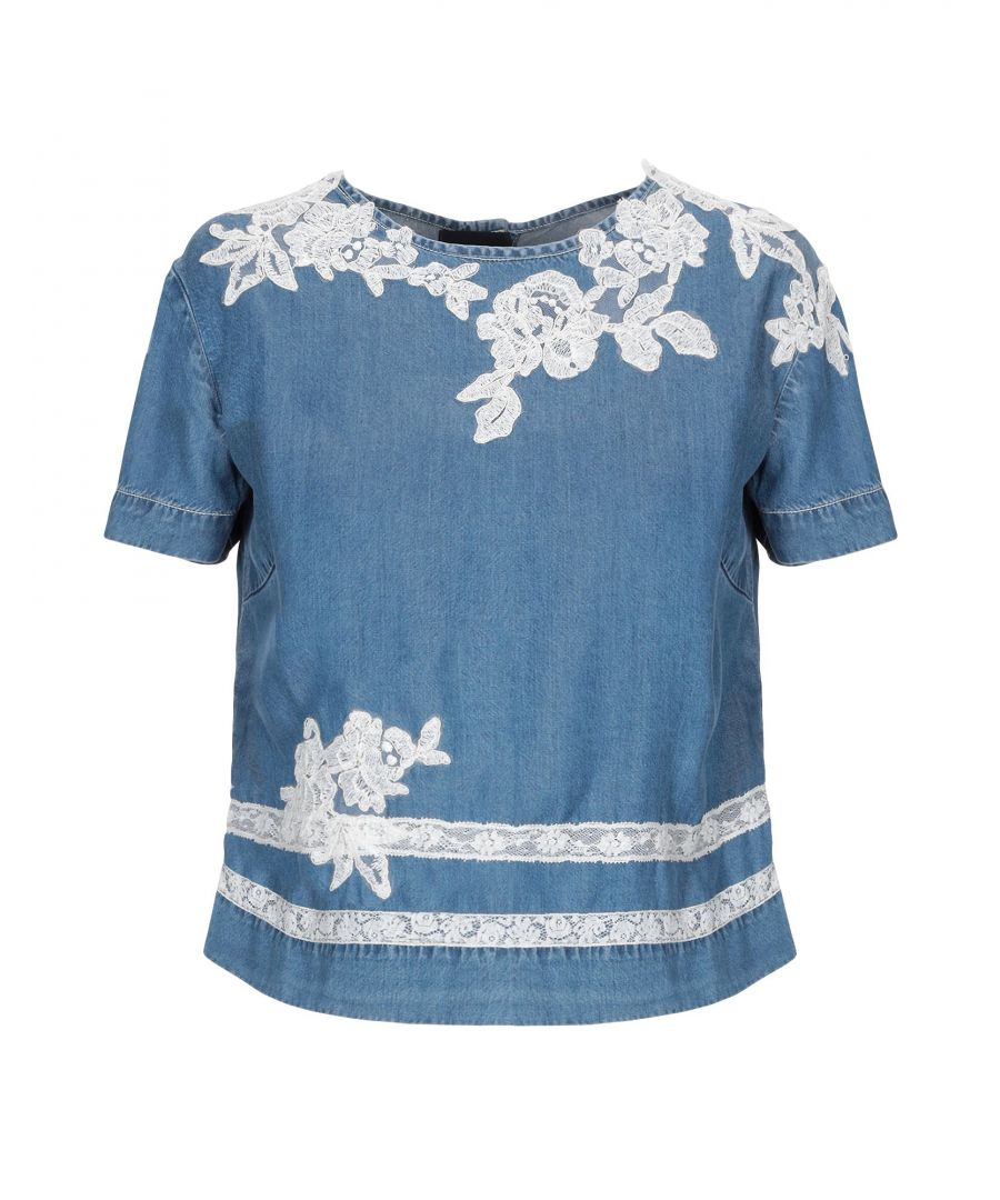 Image for Ermanno Di Ermanno Scervino Blue Denim And Lace T-Shirt