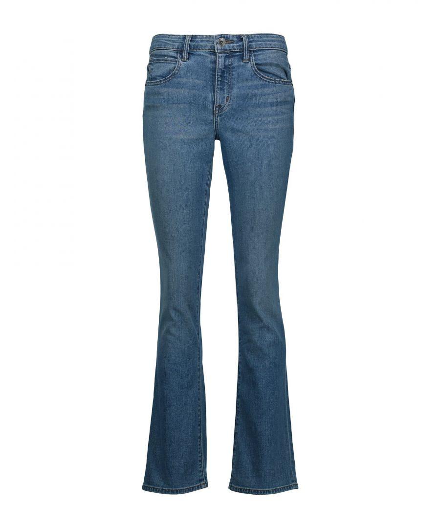 Image for Helmut Lang Blue Cotton Bootcut Jeans
