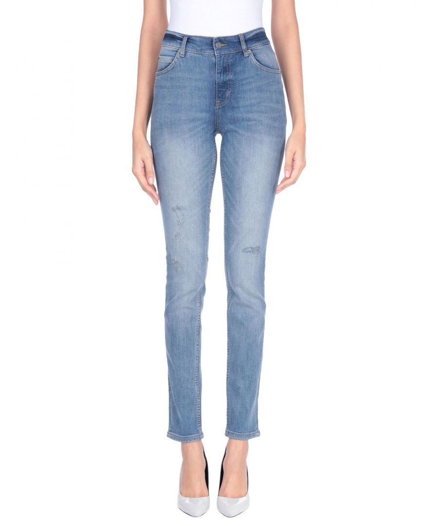 Image for Cheap Monday Blue Cotton Mid Rise Jeans
