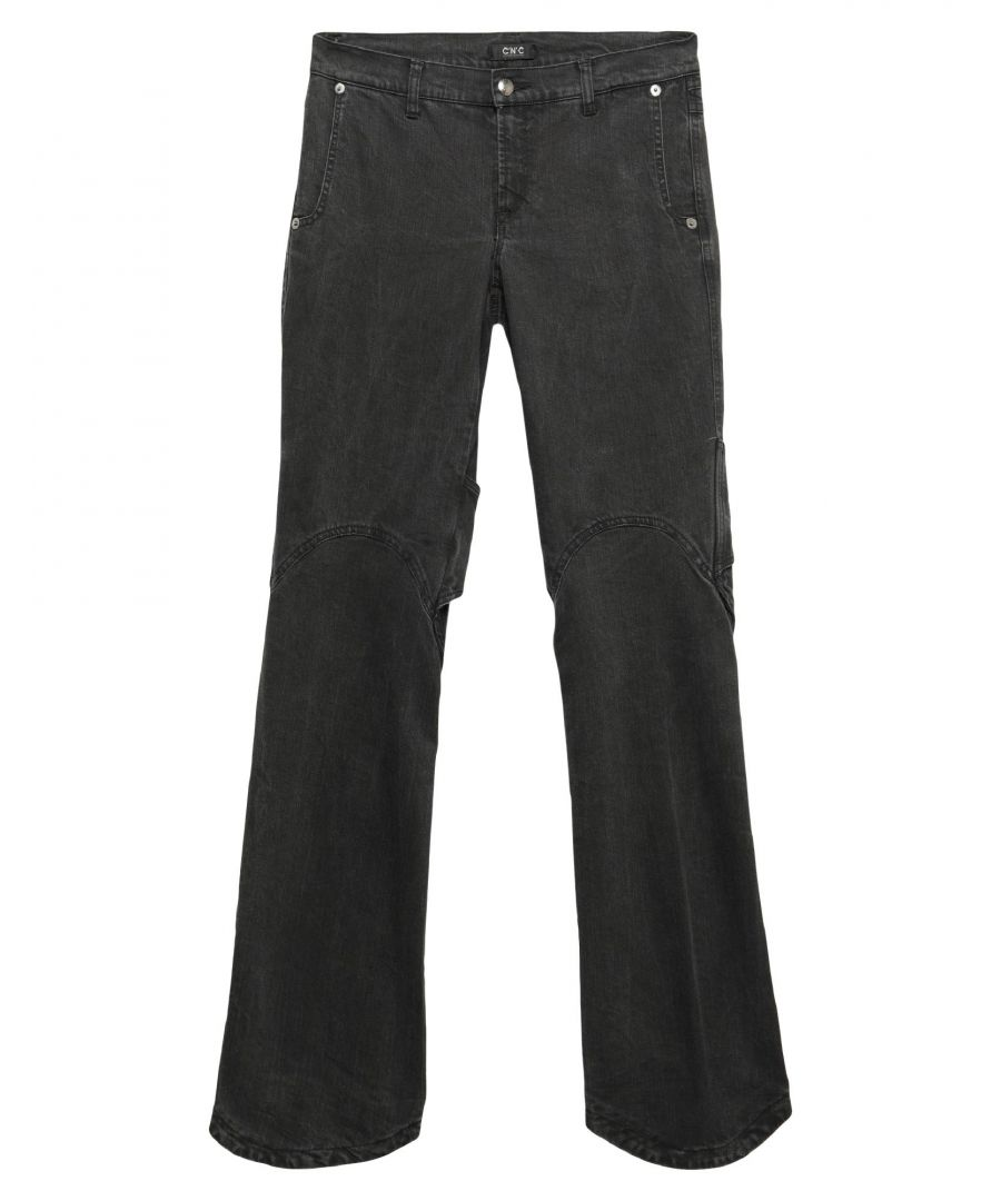 Image for C'N'C' Costume National Black Cotton Straight Leg Jeans