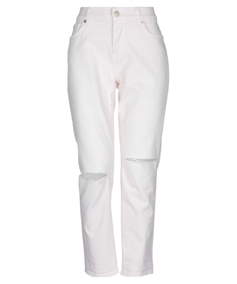 Image for DENIM Woman 7 For All Mankind Pink Cotton