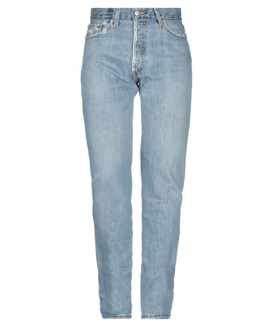 Image for Re/Done With Levi's Blue Cotton Jeans