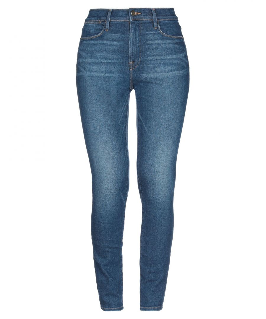 Image for Frame Blue Cotton High Waisted Skinny Jeans