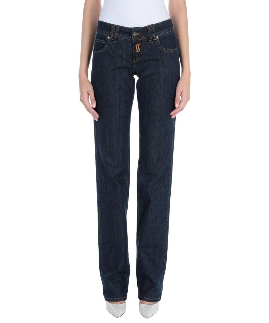 Image for Galliano Blue Cotton Straight Leg Jeans