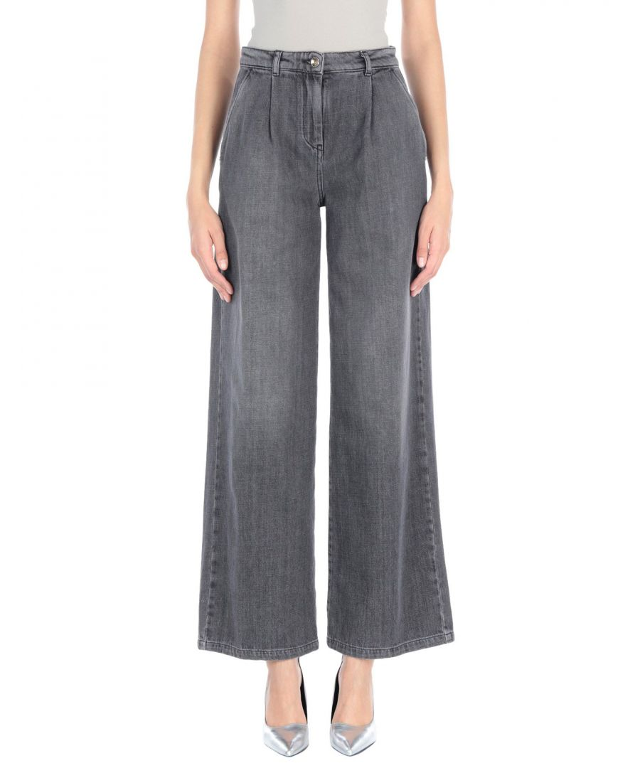 Image for Patrizia Pepe Lead Cotton Wide Leg Jeans