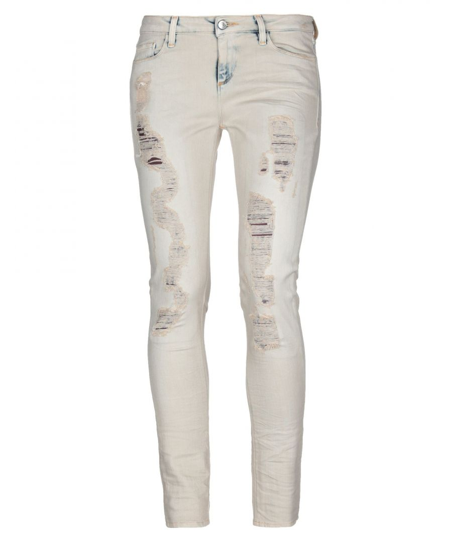 Image for Iro Beige Cotton Distressed Jeans