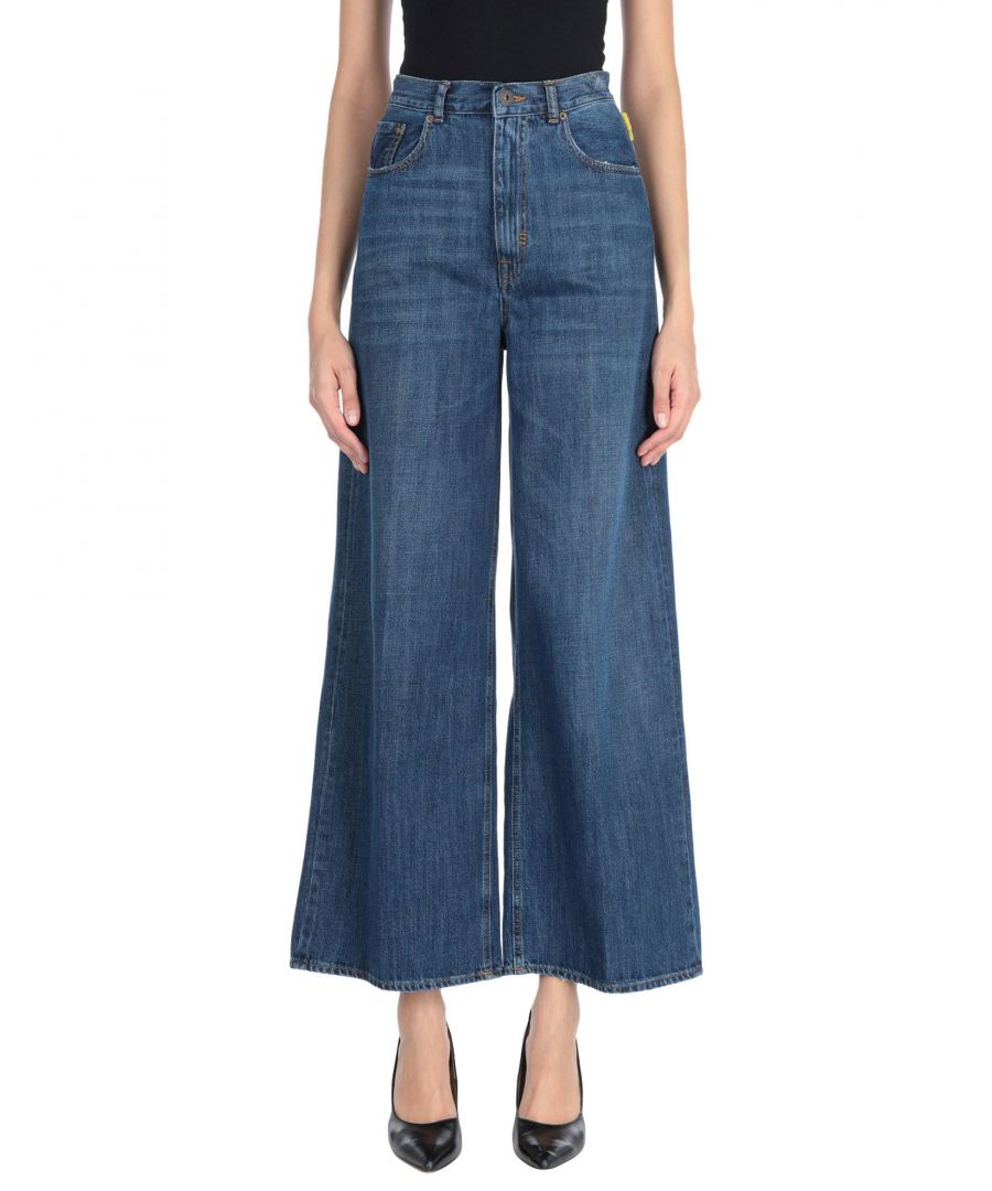 Image for Meltin Pot Blue Cotton Cropped Wide Leg Jeans