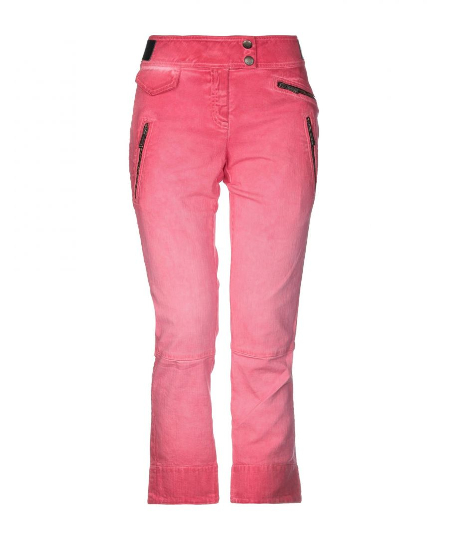 Image for Just Cavalli Fuchsia Cotton Straight Leg Jeans