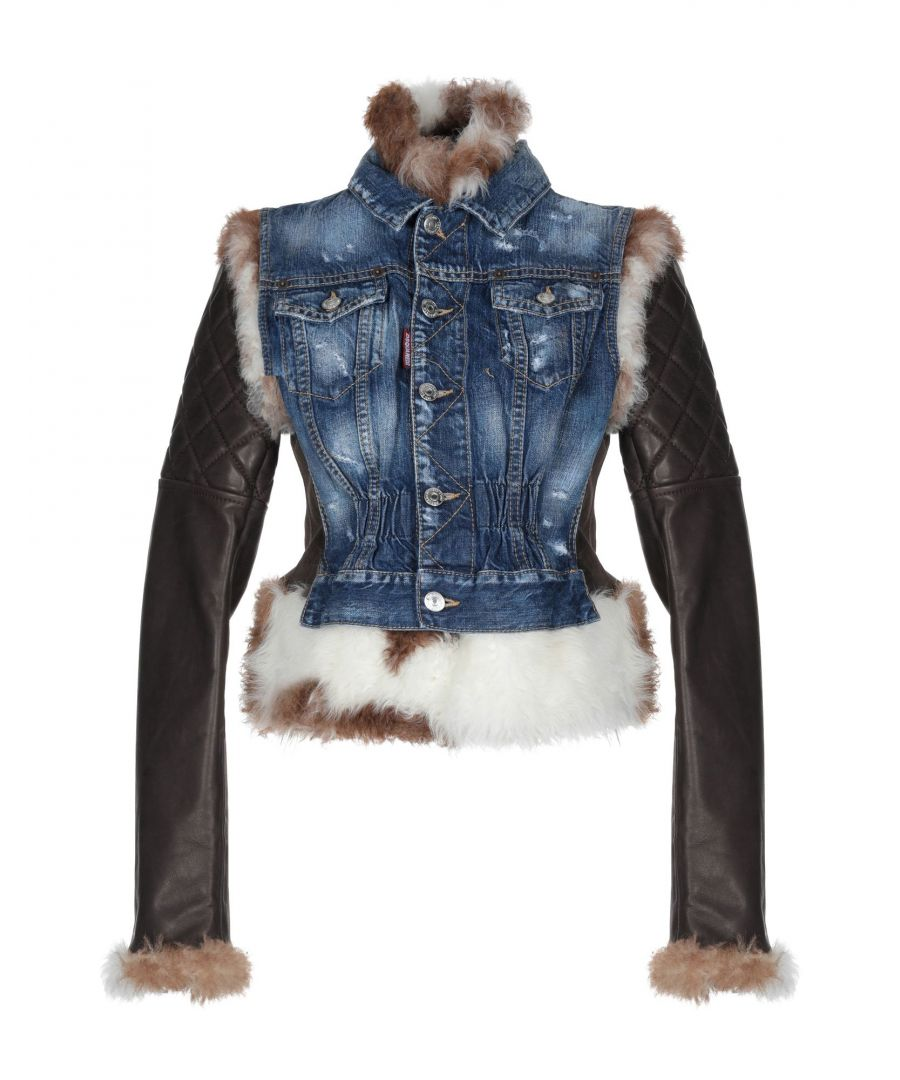 Image for Dsquared2 Woman Denim outerwear Blue Bovine