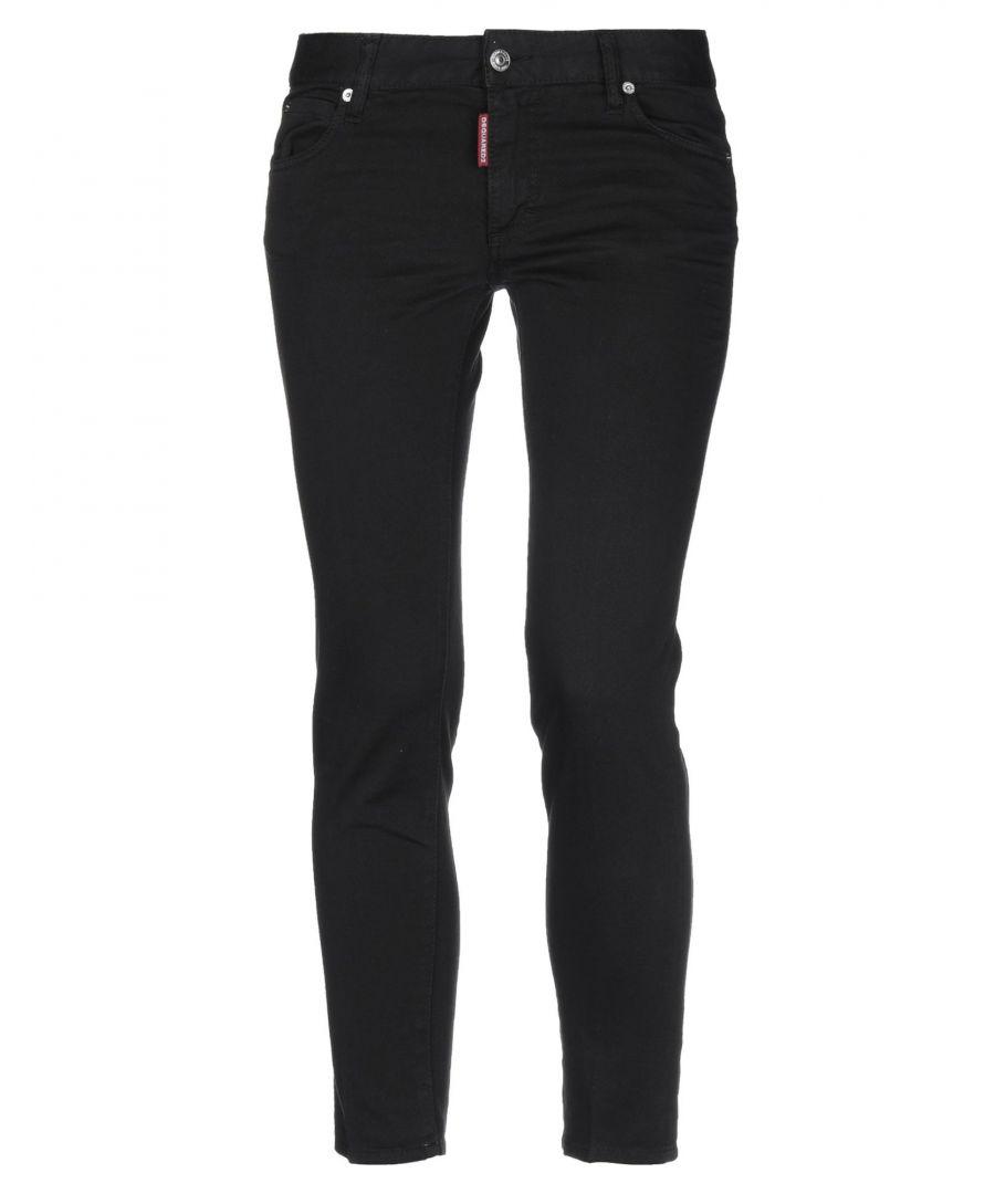 Image for Dsquared2 Black Cotton Straight Leg Jeans