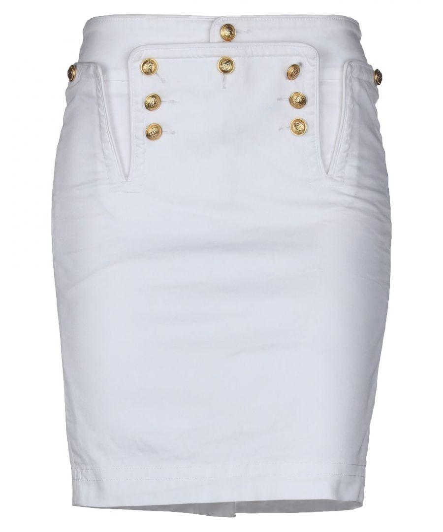 Image for Dsquared2 White Denim Skirt