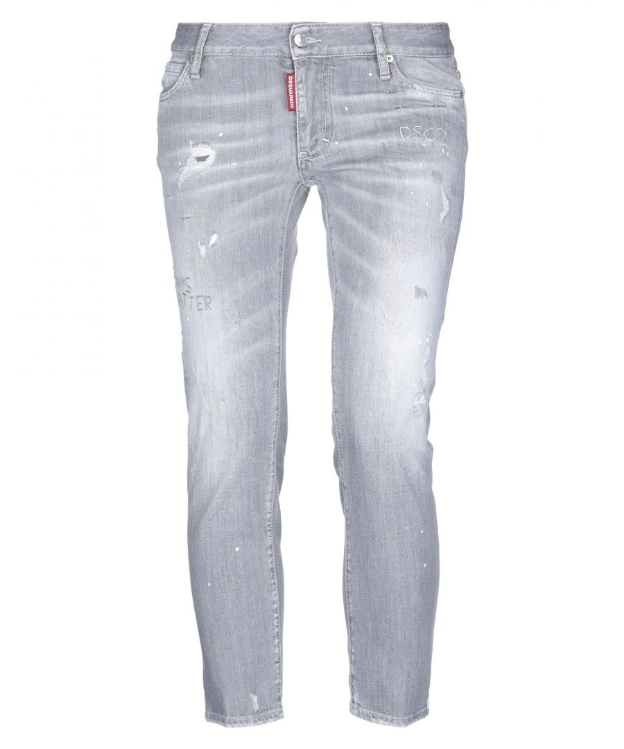 Image for Dsquared2 Grey Cotton Jeans