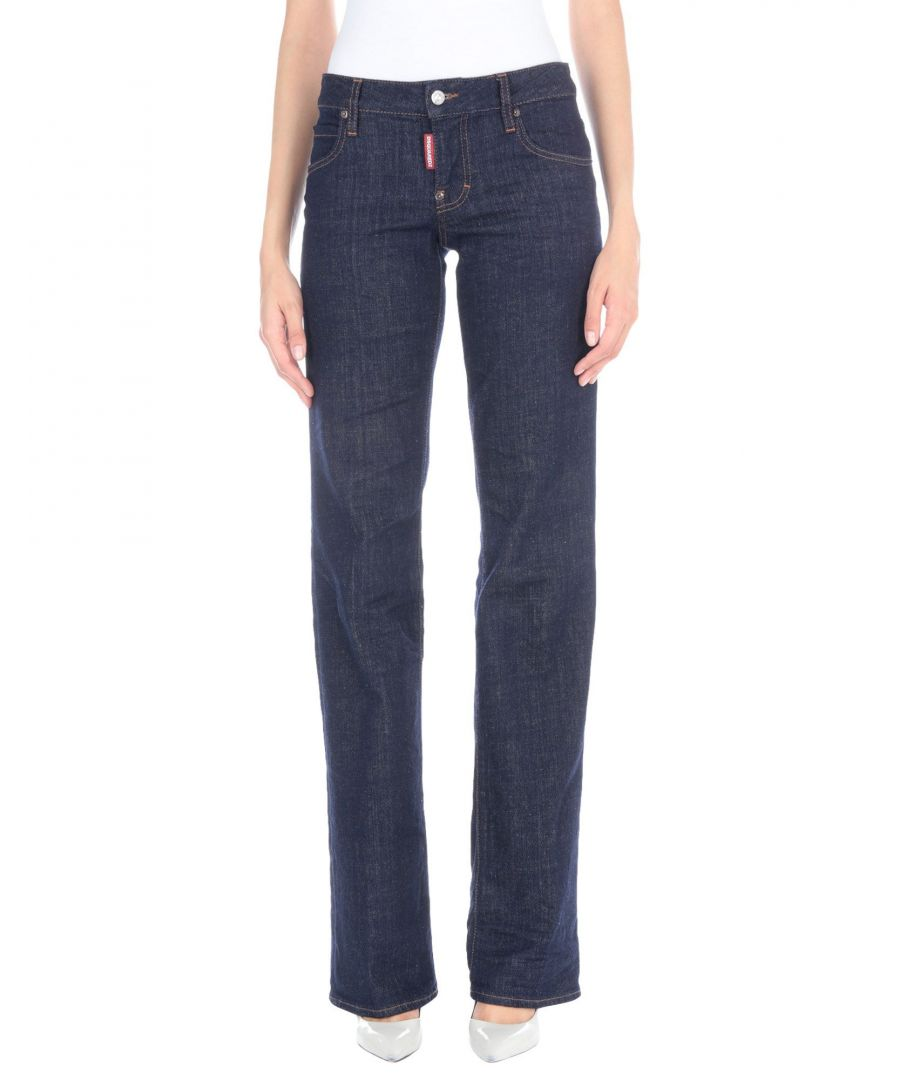 Image for Dsquared2 Blue Cotton Bootcut Jeans