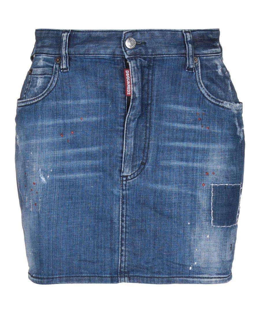 Image for Dsquared2 Blue Denim Skirt
