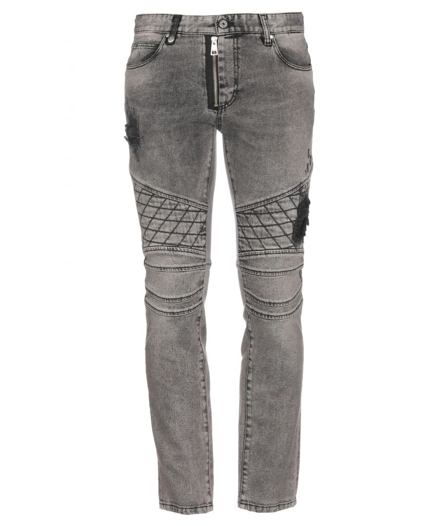 Image for Just Cavalli Grey Cotton Straight Leg Jeans