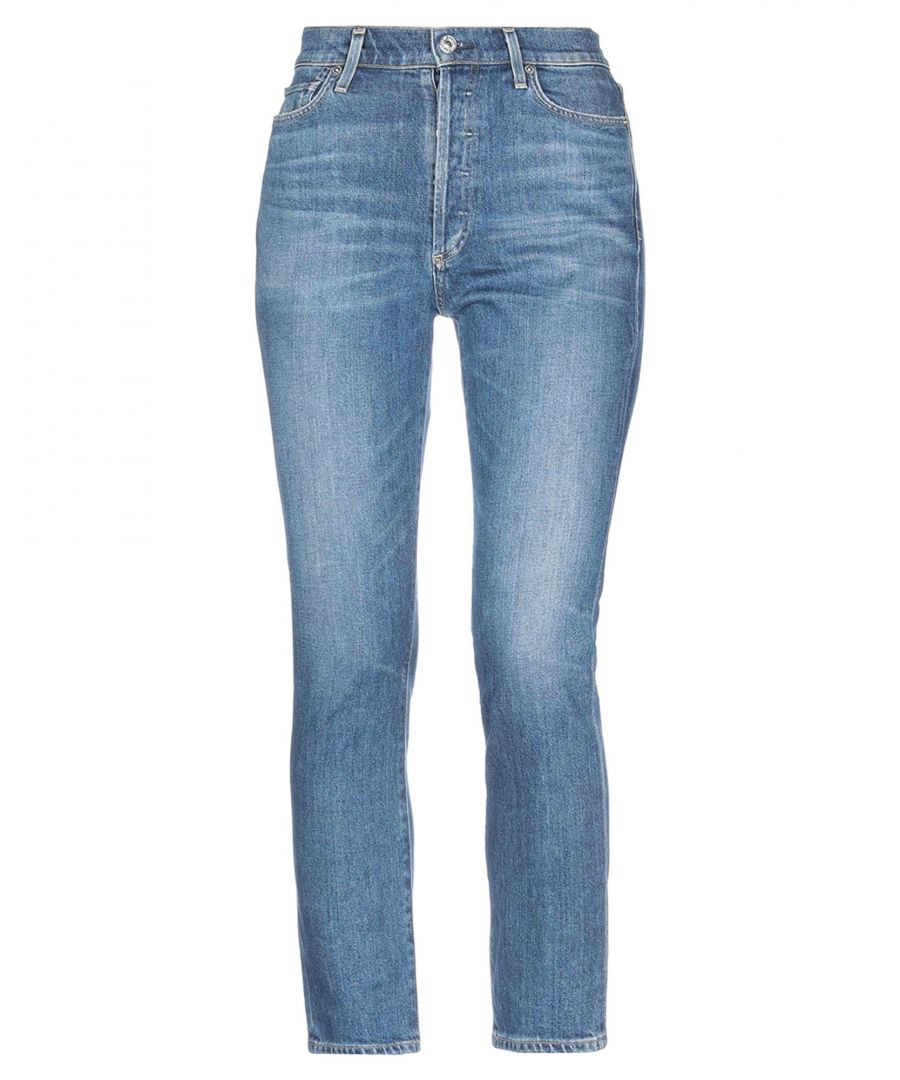 Image for Citizens Of Humanity Blue Cotton Mid Rise Jeans