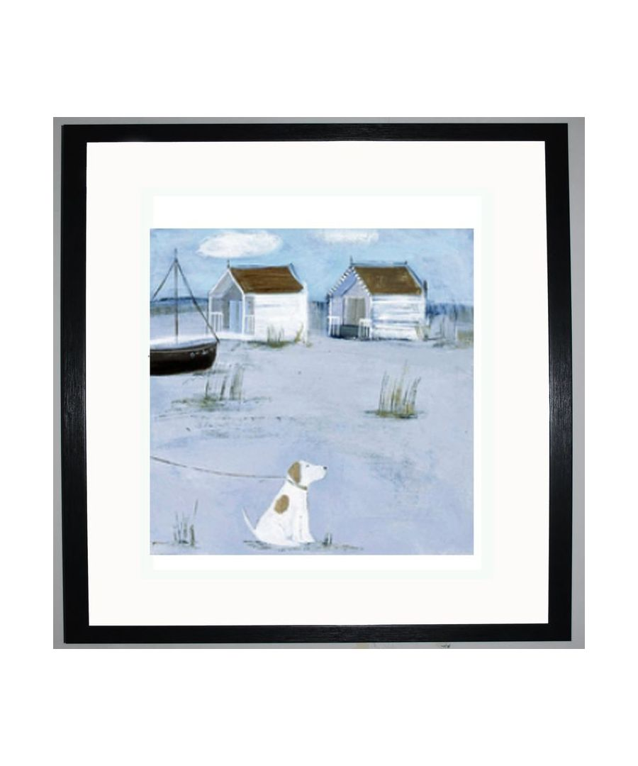 Image for By the Beach Huts Art Print by Hannah Cole