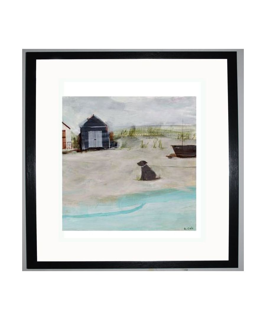 Image for Beach & Hut & Dog Art Print by Hannah Cole
