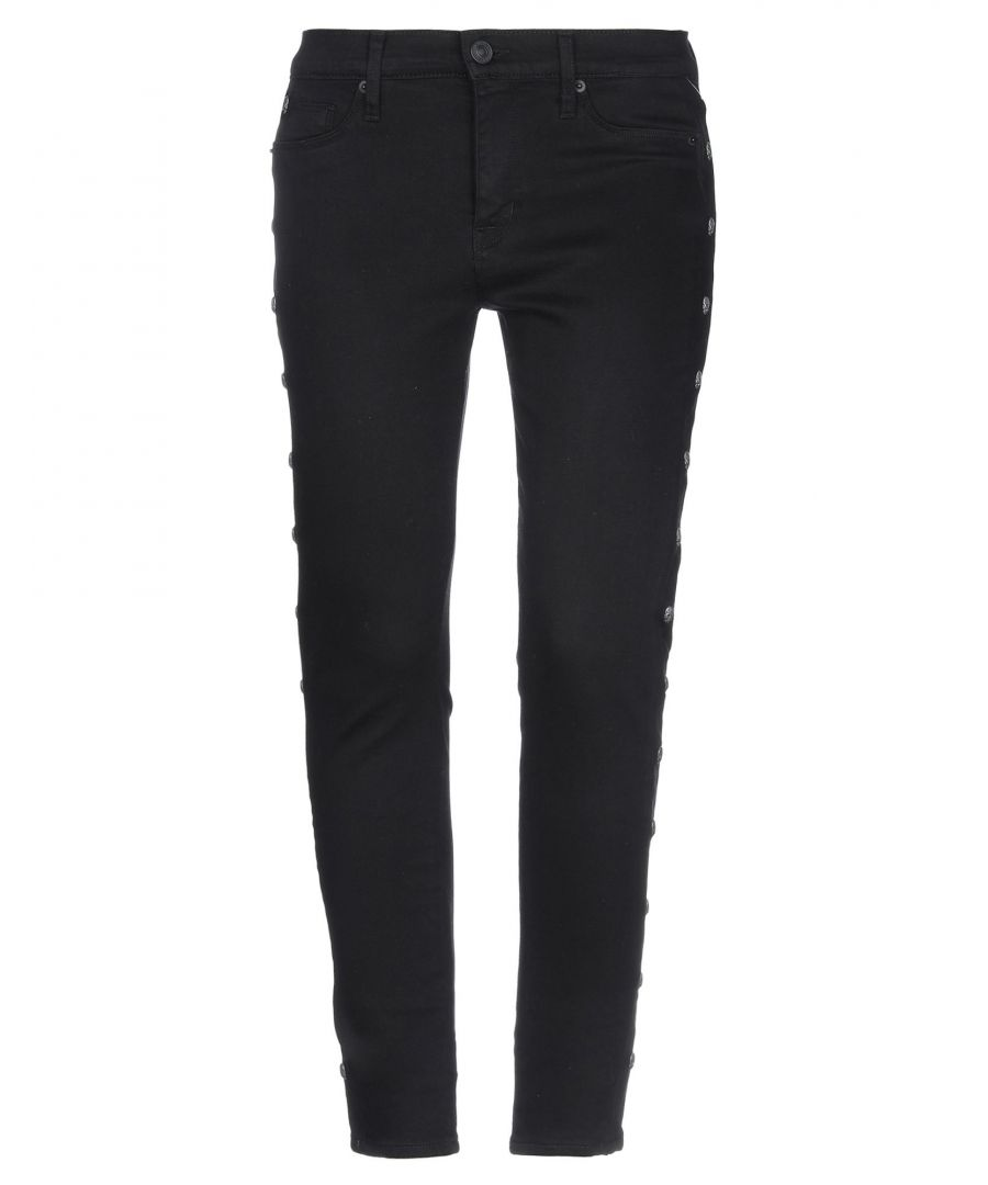 Image for Hudson Black Cotton Mid Rise Jeans