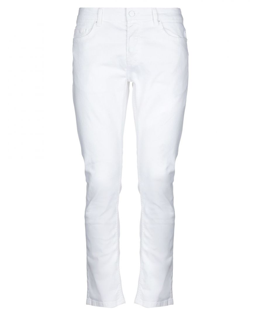 Image for Only & Sons White Cotton Mid Rise Jeans