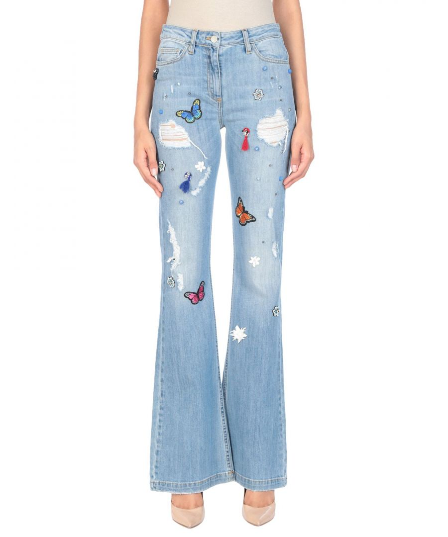Image for Annarita N Blue Cotton Flare Jeans