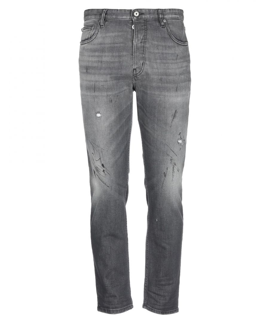 Image for Just Cavalli Grey Cotton Mid Rise Jeans