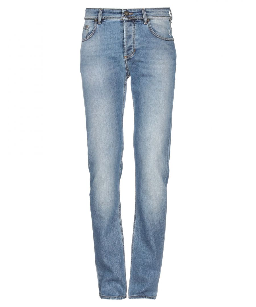Image for Versace Jeans Blue Cotton High Waisted Jeans
