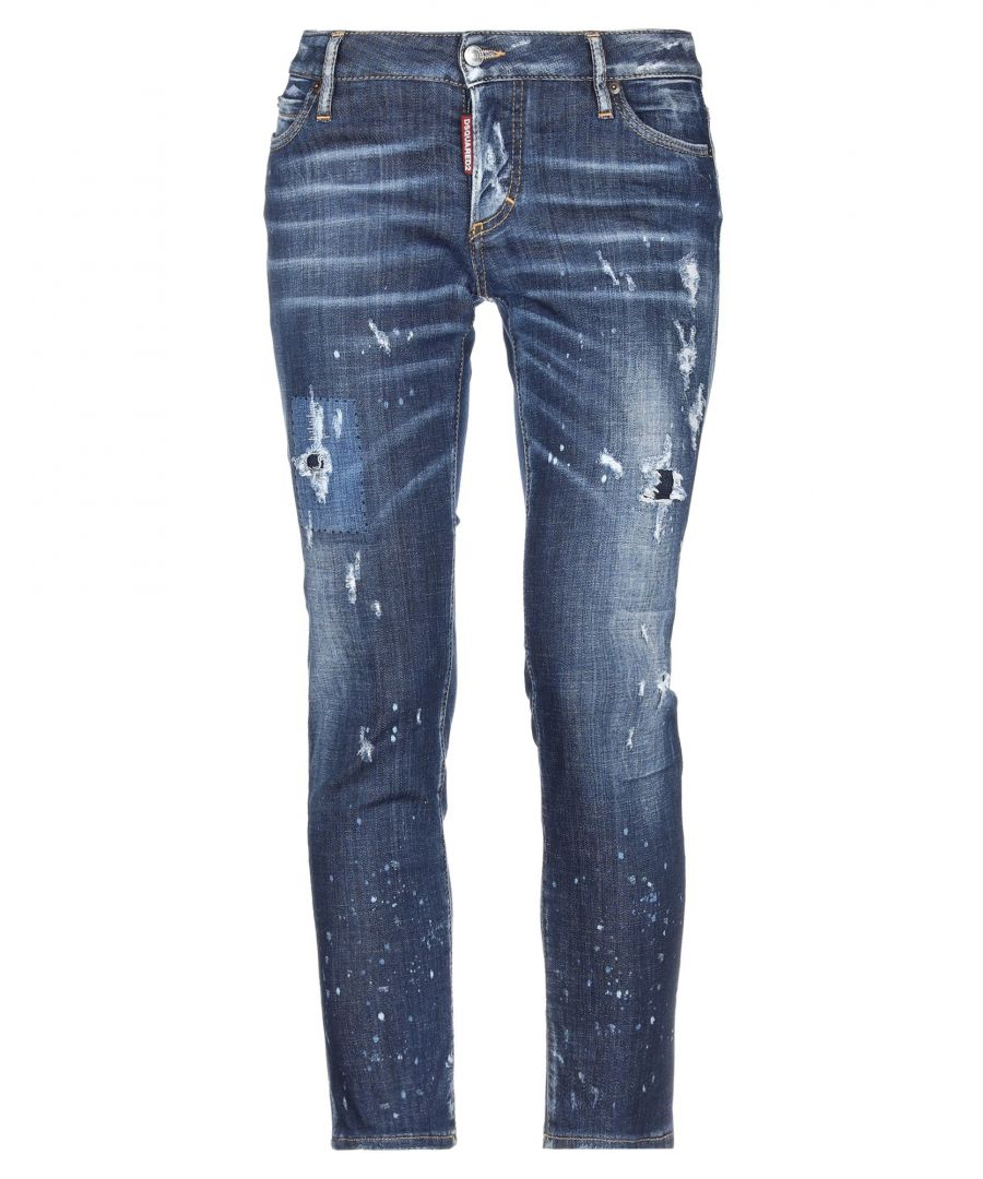 Image for Dsquared2 Blue Cotton Dark Wash Jeans