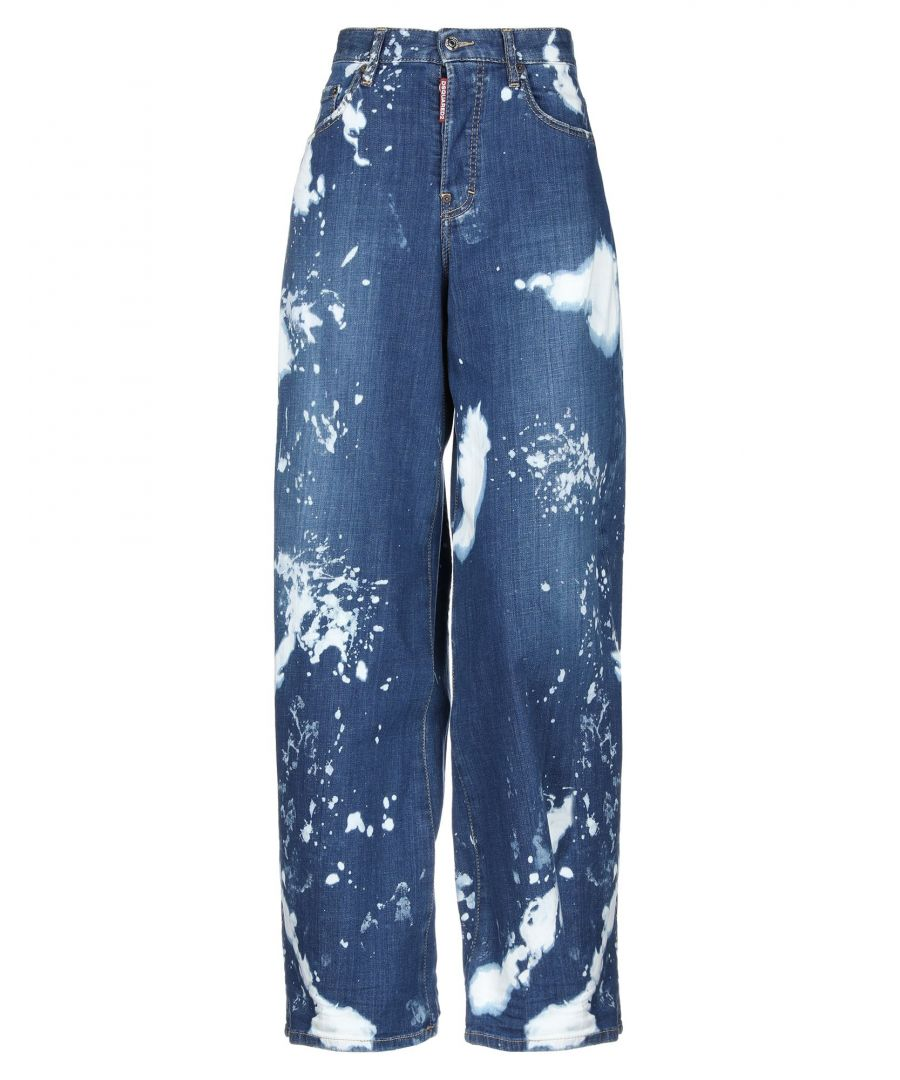 Image for Dsquared2 Blue Cotton High Waisted Jeans