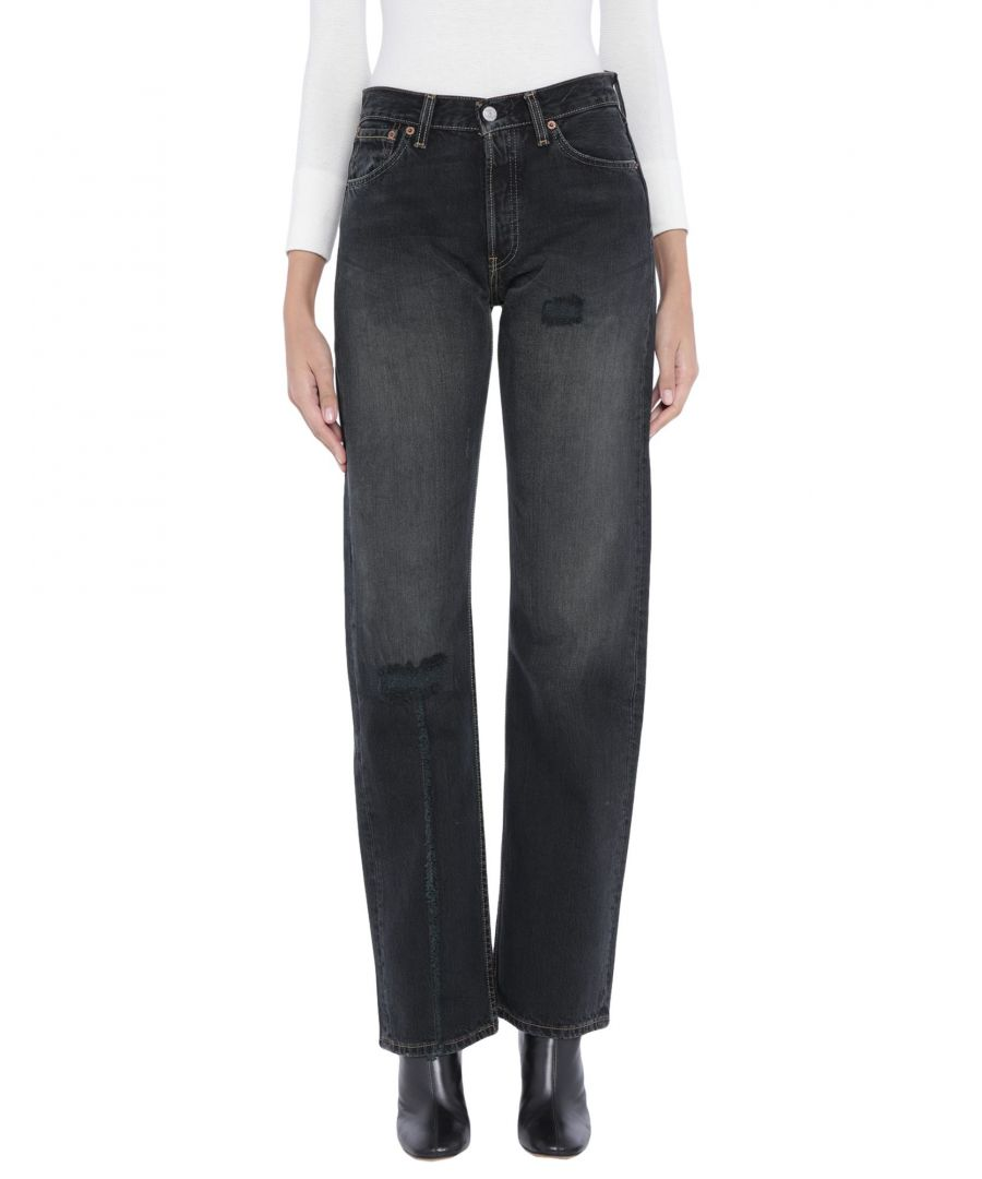 Image for Levi's Black Cotton High Waisted Jeans