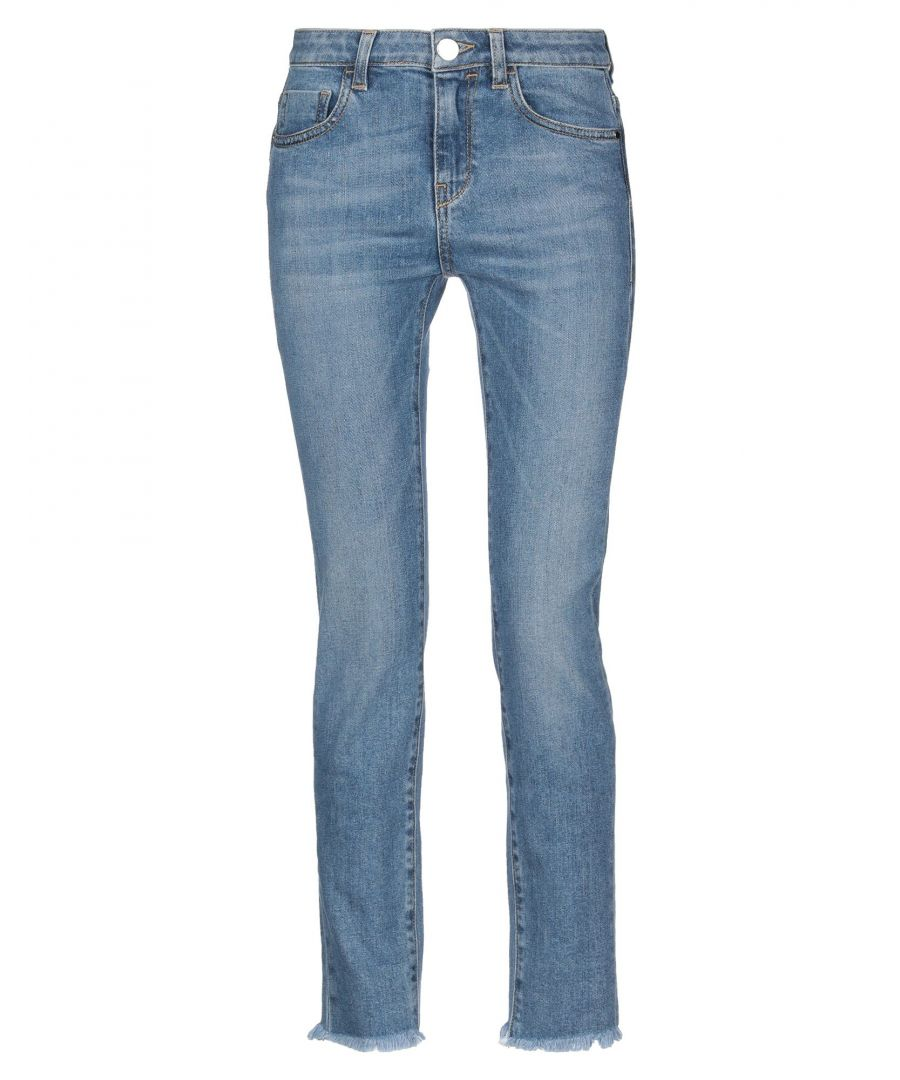 Image for Pinko Woman Denim trousers Blue Cotton