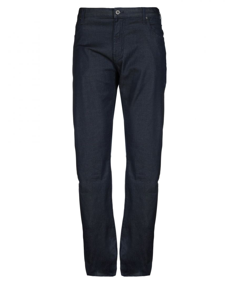 Image for Armani Jeans Blue Cotton Dark Wash Jeans